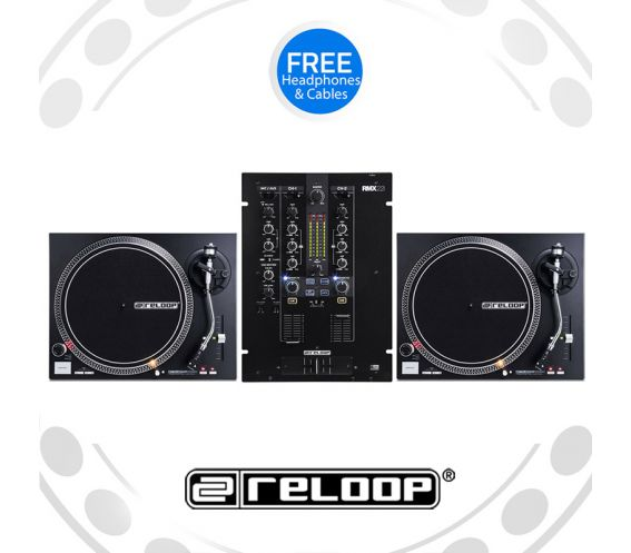 Reloop RP-4000Mk2 Turntable and RMX-22i Mixer DJ Equipment Package