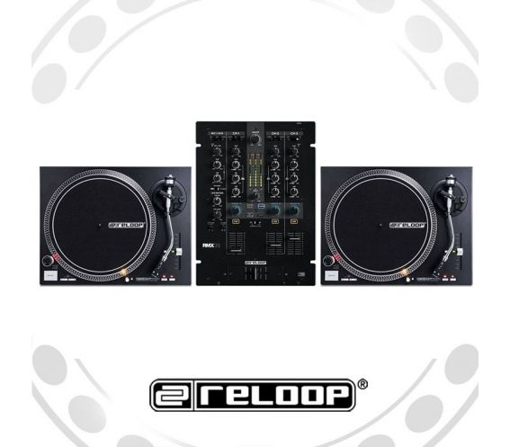Reloop RP-4000Mk2 Turntable and RMX-33i Mixer DJ Equipment Package