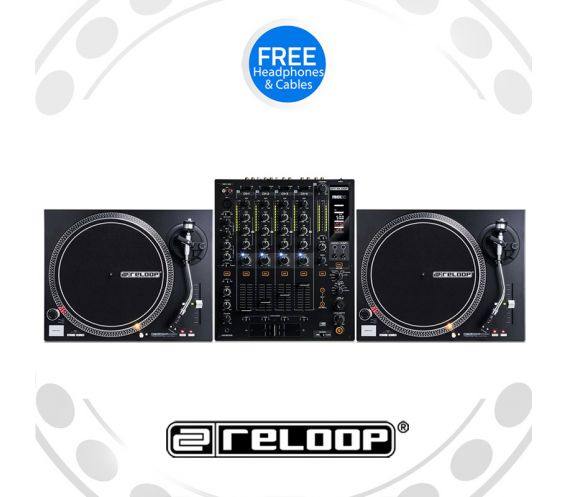 Reloop RP-4000 Turntable and RMX-60 Mixer DJ Equipment Package