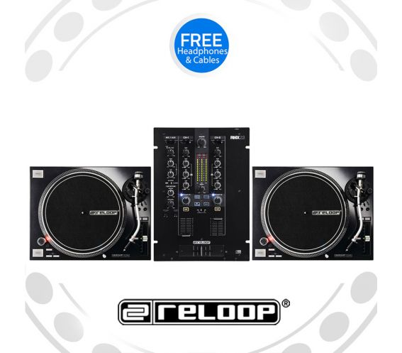 Reloop RP-7000Mk2 Turntable and RMX-22i Mixer DJ Equipment Package
