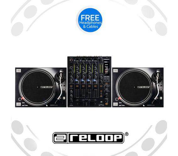 Reloop RP-7000Mk2 Turntable and RMX-60 Mixer DJ Equipment Package