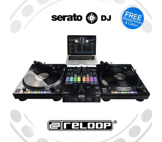Reloop RP-8000MK2 Turntable + Elite DJ Mixer DJ Equipment Package