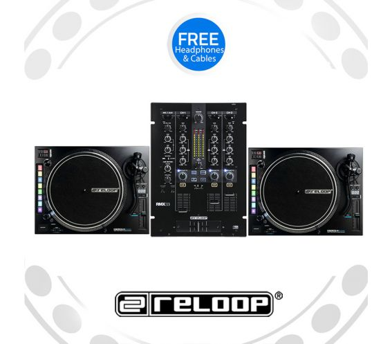 Reloop RP-8000Mk2 Turntable and RMX-22i Mixer DJ Equipment Package