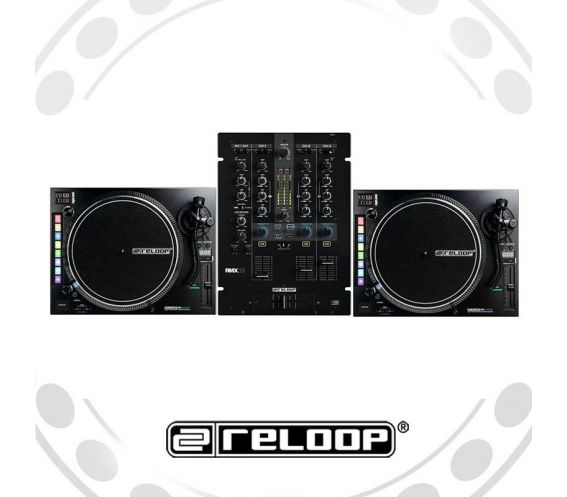 Reloop RP-8000 Turntable and RMX-33i Mixer DJ Equipment Package