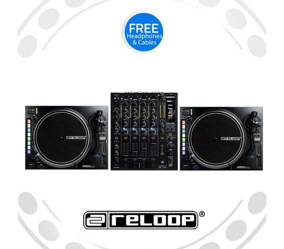 Reloop RP-8000Mk2 Turntable and RMX-60 Mixer DJ Equipment Package