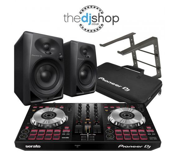 Pioneer DDJ-SB3, DM-40 Speakers, DJC Bag, Laptop Stand