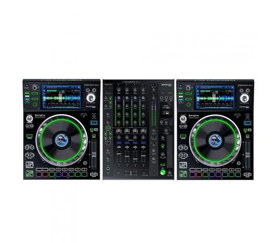 Denon DJ SC5000 and X1800 Prime Series Pro DJ Equipment Package
