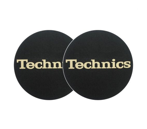 Technics Slipmats Black & Gold Pair