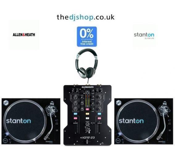 Stanton ST.150 M2 Turntable & Allen & Heath Xone 23 Mixer DJ Equipment Package