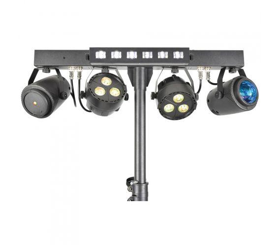 Stage Bar - LED PAR Bar With FX, Laser and UV/Strobe Close Up