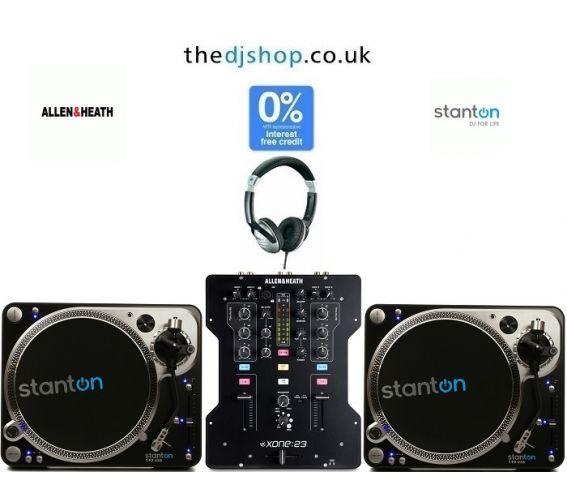 Stanton T.92 M2 Turntable & Allen & Heath Xone 23 Mixer DJ Equipment Package