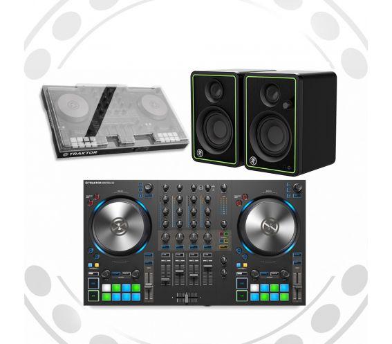Native Instruments Traktor S3, CR4-X Speakers, and Decksaver w/FREE Headphones Package Deal