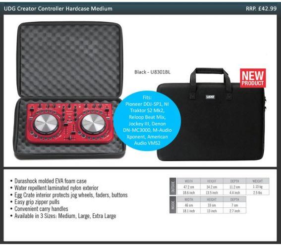 UDG U8301BL Medium Creator Controller Hard Case - Black