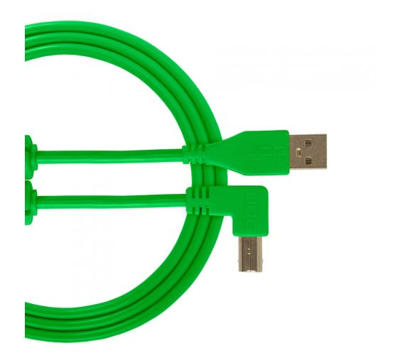 UDG Ultimate Audio Cable USB 2.0 A-B Angled Green Cable