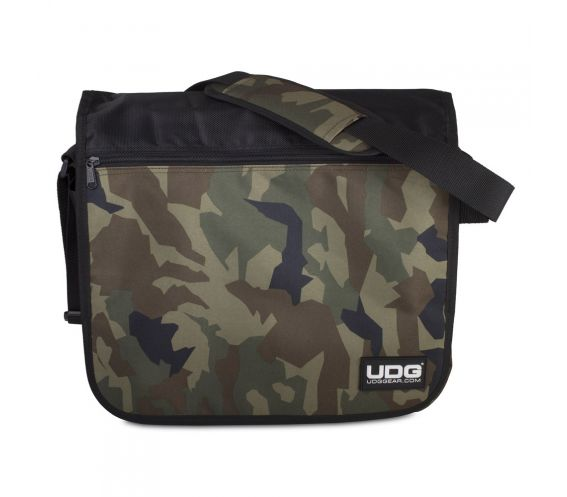 UDG Ultimate CourierBag Black Camo/Orange Front View