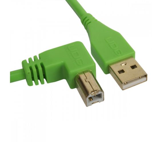UDG USB Cable A-B 2M Green Angled