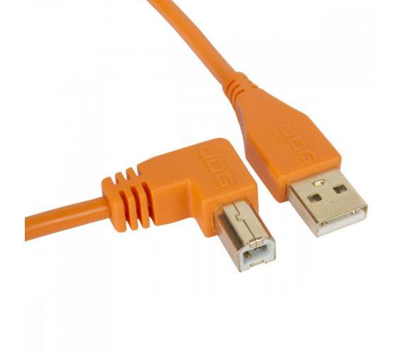 UDG USB Cable A-B 2M Orange Angled