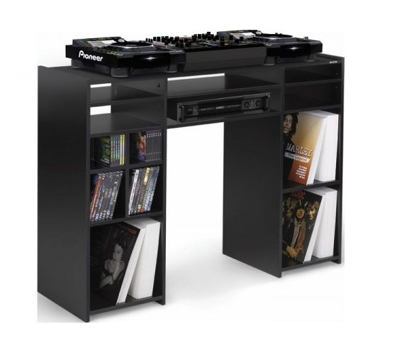 Zomo Vegas DJ Deck Stand In Use Black Finish