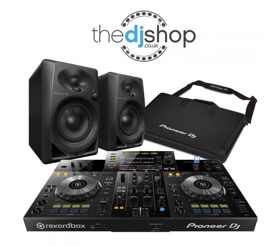 Pioneer XDJ-RR, DM-40 Speakers, and Carry Bag w/FREE Headphones and Cables Package Deal