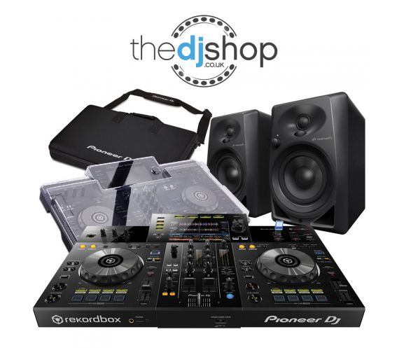 Pioneer XDJ-RR, DM-40 Speakers, Decksaver Cover and Carry Bag w/FREE Headphones and Cables Package Deal