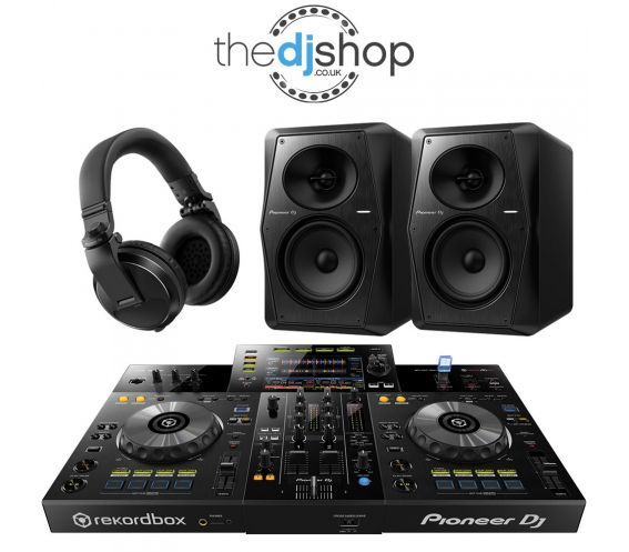 Pioneer XDJ-RR DJ Controller, VM-50 Speakers, HDJ-X5 Headphones