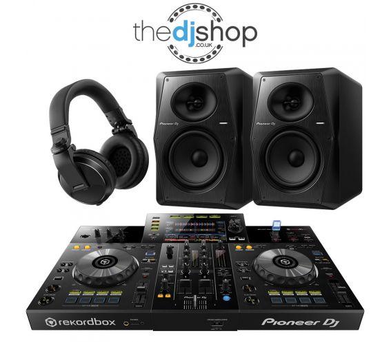 Pioneer XDJ-RR DJ Controller, VM-70 Speakers, HDJ-X5 Headphones