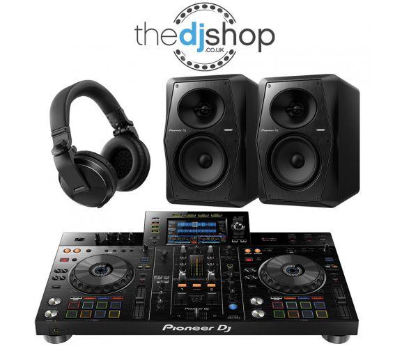 Pioneer XDJ-RX2, VM-50 Speakers, HDJ-X5 Headphones