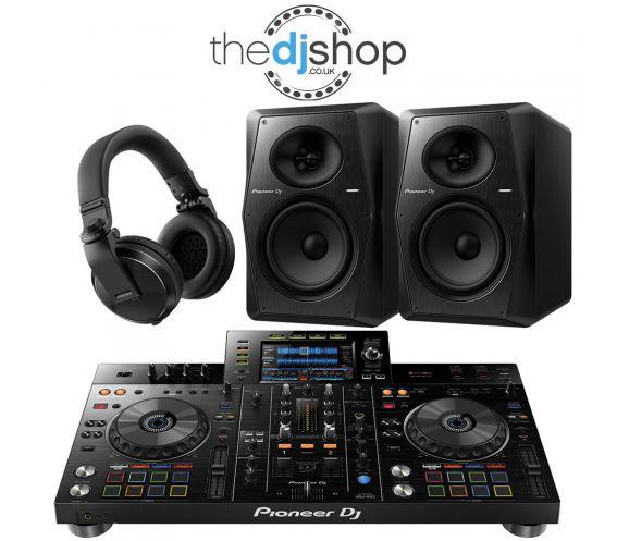 Pioneer XDJ-RX2 DJ Controller, VM-70 Speakers, HDJ-X5 Headphones