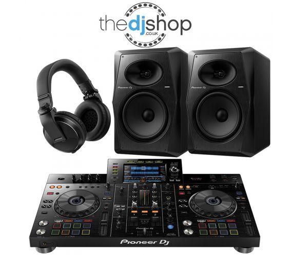 Pioneer XDJ-RR DJ Controller, VM-80 Speakers, HDJ-X5 Headphones