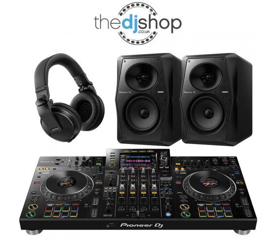 Pioneer XDJ-XZ DJ Controller, VM-50 Speakers, HDJ-X5 Headphones