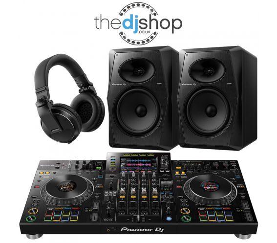 Pioneer XDJ-XZ DJ Controller, VM-80 Speakers, HDJ-X5 Headphones