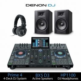 Denon DJ Prime 4 DJ Equipment Package Deal