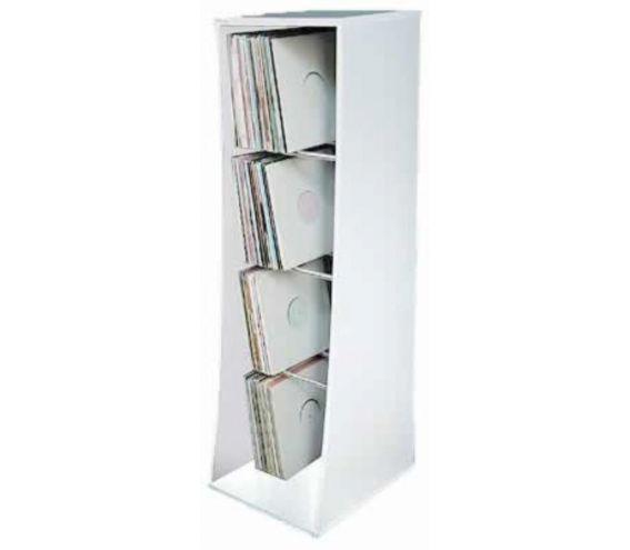 Vinyl Storage Unit White