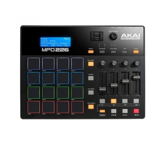 Akai-MPD226-Pad-Controller-with-Faders