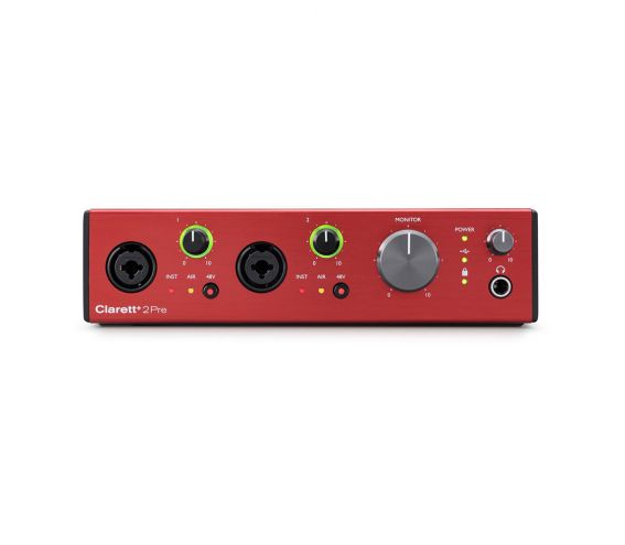 Focusrite Clarett+ 2Pre USB Audio Interface Front