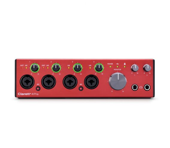 For music producers who want the best quality while recording and mixing audio, Clarett+ 4Pre is the studio-grade audio interface for PC or Mac.