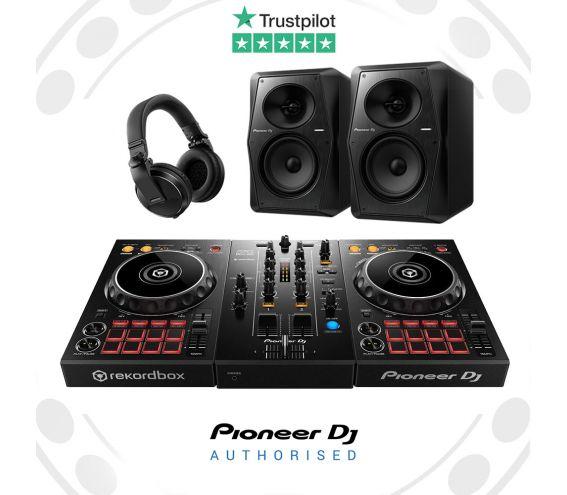 Pioneer DDJ-400, HDJ-X5, and VM-70 Complete DJ Equipment Package