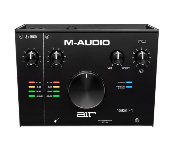 M-Audio 192|4 USB Audio Interface Top