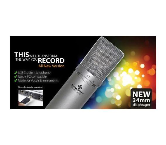 SL300 Condenser USB Microphone & Extras