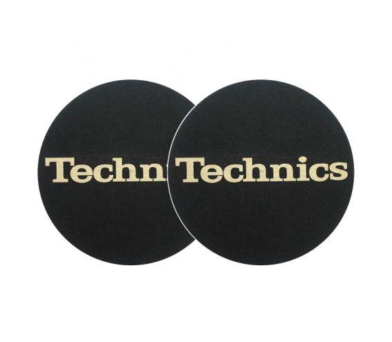 Technics Slipmats Black & Gold Pair
