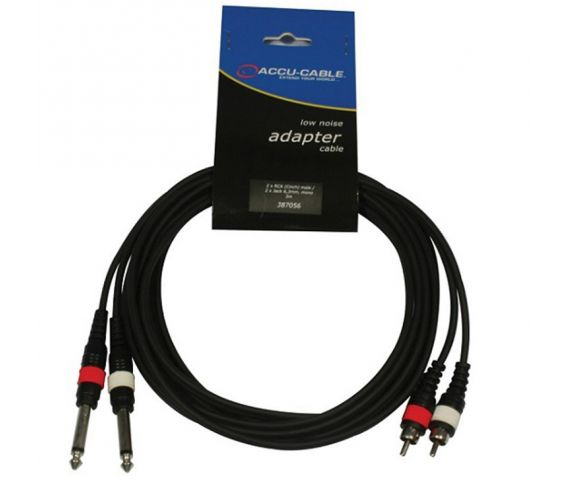 Twin RCA to Twin 6.3 Jack Mono Cable