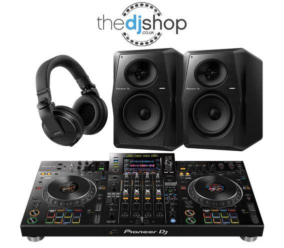 Pioneer XDJ-XZ DJ Controller, VM-70 Speakers, HDJ-X5 Headphones