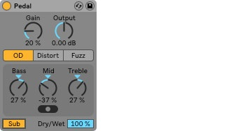 Ableton Live 10 Pedal Effect