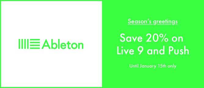 Huge Savings On All Ableton Products This Christmas!