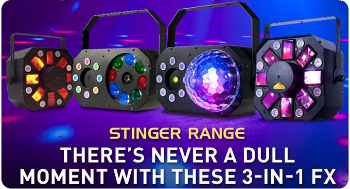 American DJ Stinger 3-in-1 FX Lighting Range