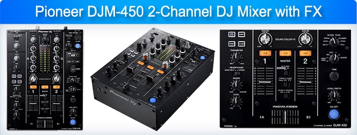 Pioneer DJM-450 2-channel DJ Mixer with FX