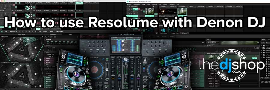 How To Use Resolume with Denon DJ Video Tutorial