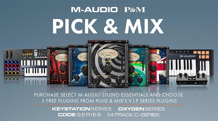 M-Audio free Pick & Mix plugin offer