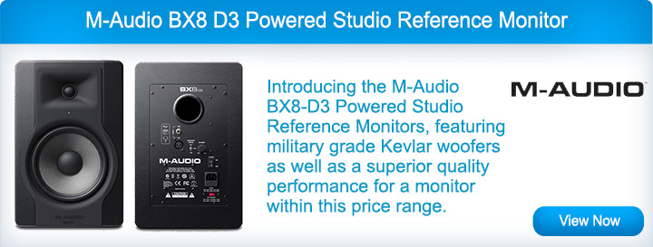 M-Audio BX8 D3 Powered Studio Reference Monitor