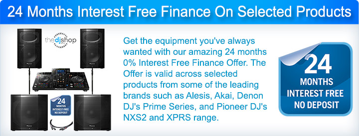 24 Months 0% Interest-Free DJ Equipment Finance Offer